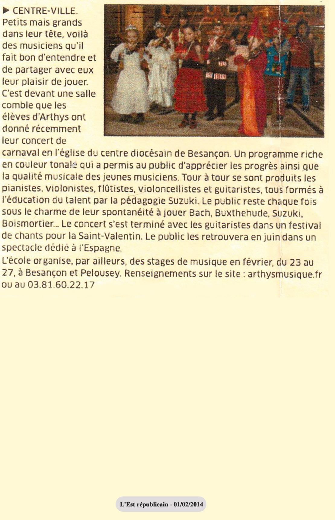 Concert Arthys Musique 2014