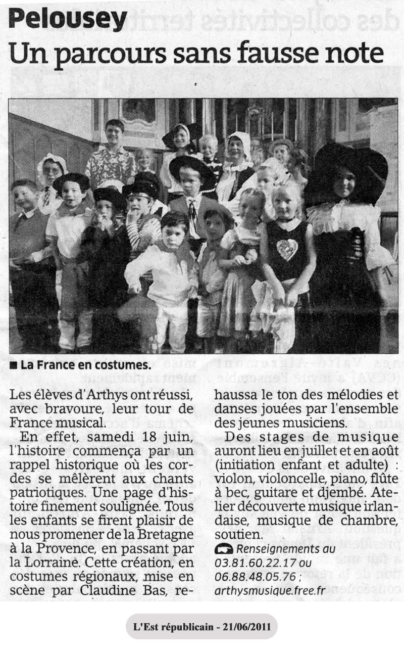 Ecole Musique Arthys Pelousey 2011