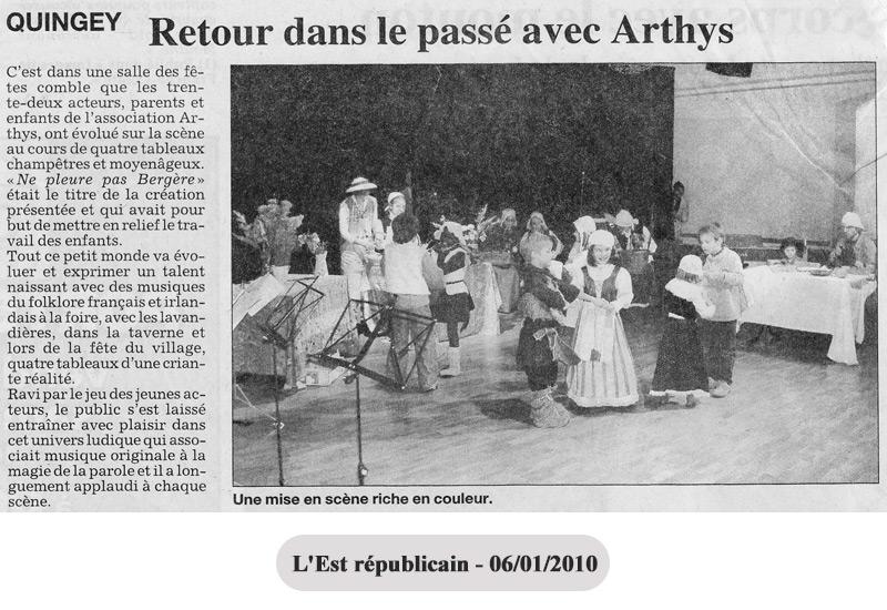 Retour dans le passé avec Arthys école de musique en 2010