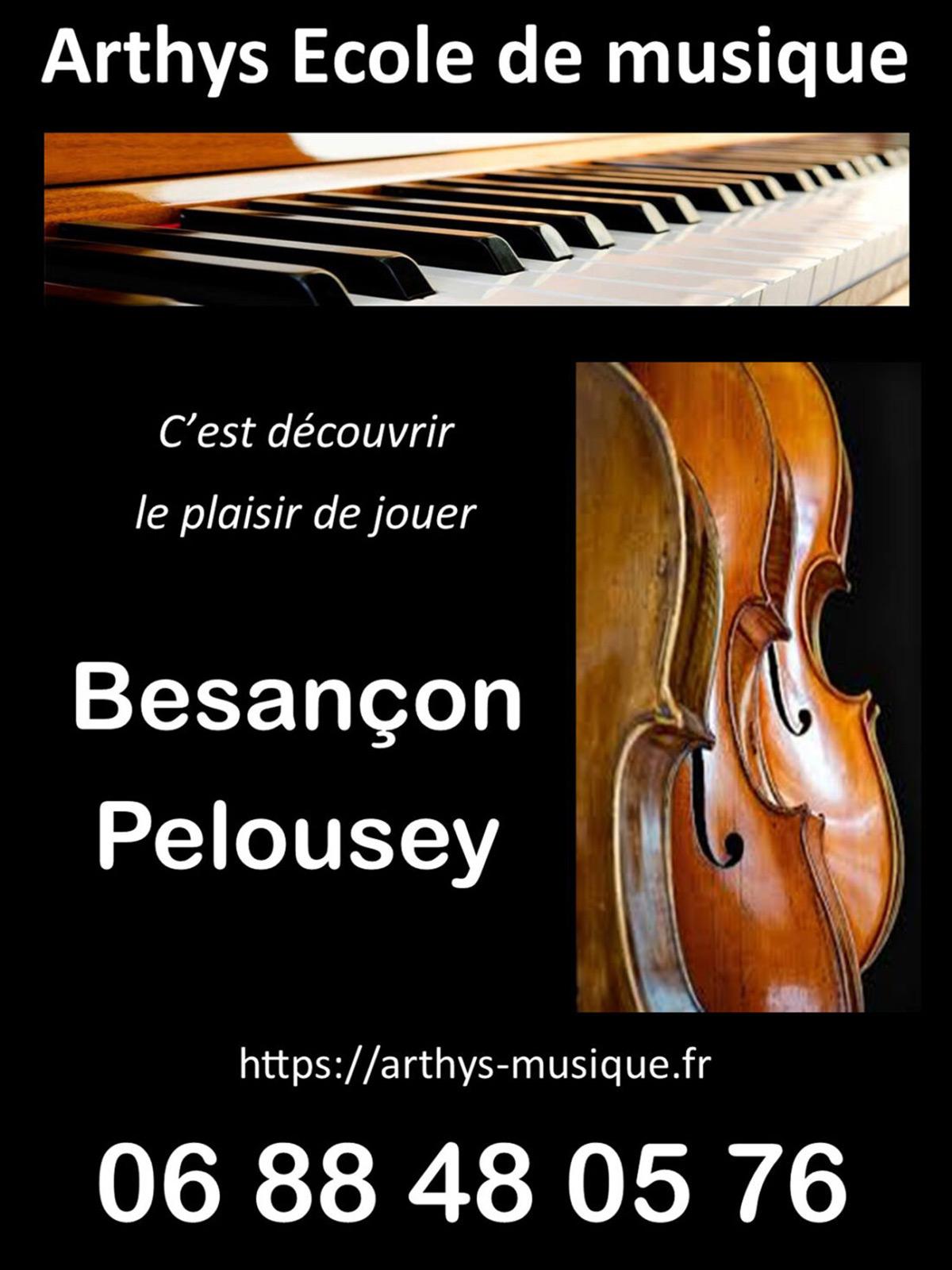 Stages à l 'école de musique Arthys à Besançon ou Pelousey