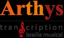 Logo Arthys Transcription Braille Musical et Littéraire (ATBML)